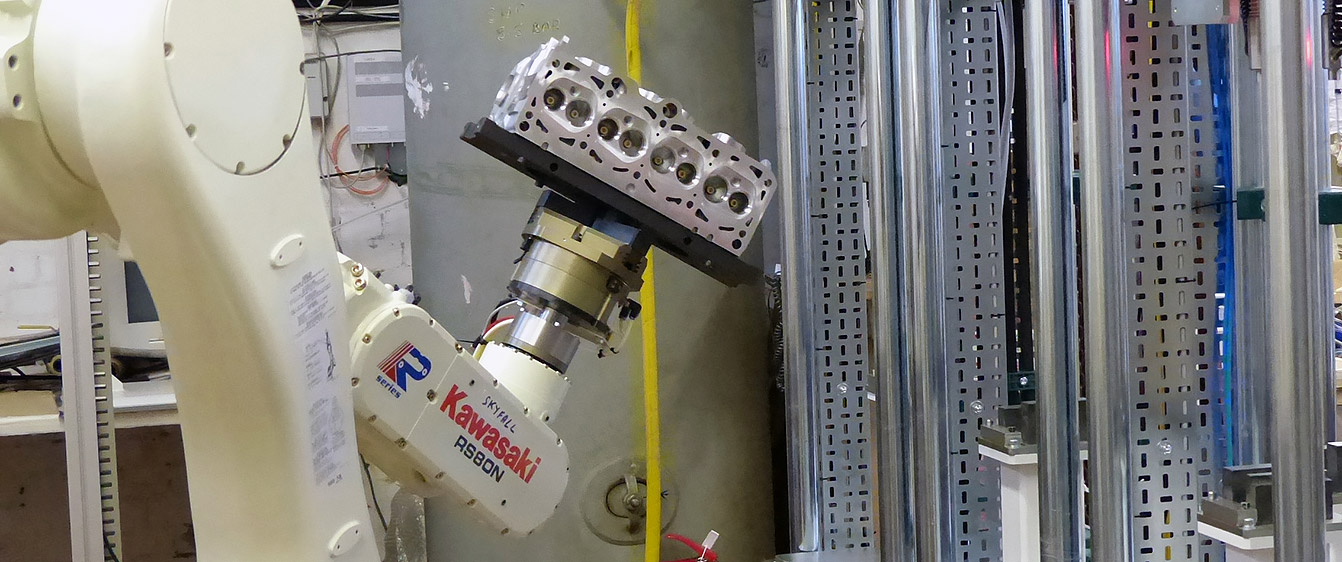 Robotic Handling of Engine Casting