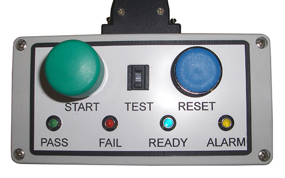MALT remote button box for leak testing