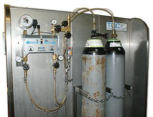 gas bottles for hydraulic test equipment