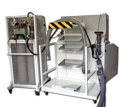 Hydrogen tracer gas test equipment